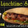 225 Baht Lunchtime special @ Fraser's Jomtien