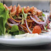 395 THB Flamed salmon salad every Thursday @ News Steaks & Grill – New Nordic Group