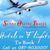 Checked negotiated consolidator fares and special sale fares! @ SunnyOnlineTravel.com