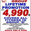 "4,990 THB Lifetime promotion for Tony's Fitness Group ""D"" – 31st October 2014"