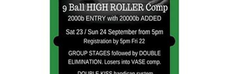 High Roller 9 Ball at Double Kiss Pool Hall & Sports Lounge Pattaya – 23 September 2017