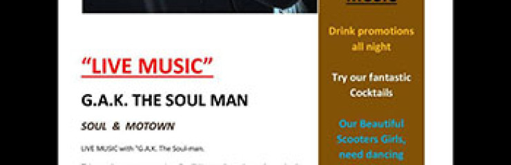 Live Soul Music with The Soulman at Scooters Bar LK Metro – 21 September 2017