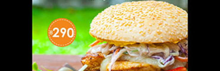 290฿ Cajun Chicken Burger at New Nordic Steaks, Grill & Winery – September 2017