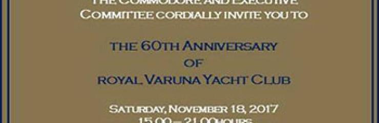 Royal Varuna Yacht Club 60th Anniversary – 18 November 20017
