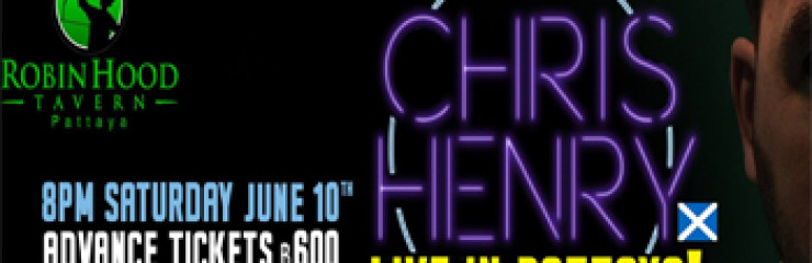 Stand-Up Comedy – Chris Henry at Robin Hood Tavern – 10 June 2017