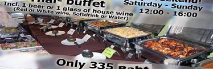 335 Baht Weekend International lunch buffet at Akvavit Grill & Bar