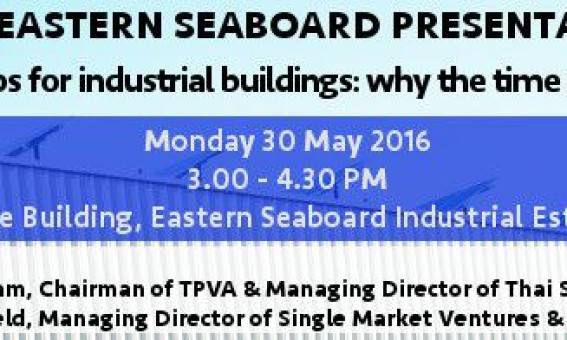 BCCT Eastern Seaboard Presentation on Solar Rooftops at Eastern Seaboard Industrial Estate (Rayong) – Monday 30th May 2016