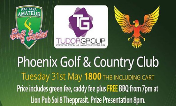 Pattaya Amateur Golf Series at Phoenix Gold Golf Club – Tuesday 31st may 2016