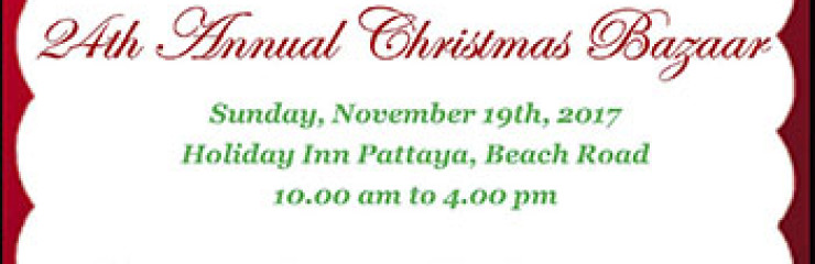 PILC Christmas Bazaar at Holiday Inn Pattaya – 19 November 2017