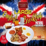 Large English Breakfast only for 180 Baht at The Punch & Judy Pub