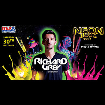 MiXX Neon Beatz Party with Special Guest Richard Grey! – 30 September 2017