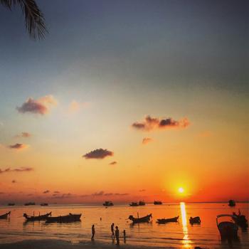Stunning time lapse Sunset on Koh Tao Thailand