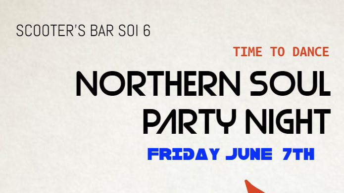 Northern Soul Night at Scooters Bar Soi 6 - 7 June 2019 - Inspire