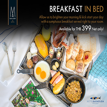 Breakfast in Bed at Hotel Baraquda Pattaya MGallery by Sofitel