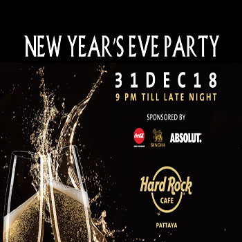 New Year's Eve Party at Hard Rock Cafe Pattaya – 31 December 2018