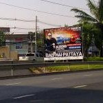 Pattaya Road sign for Zoom Festival 2012