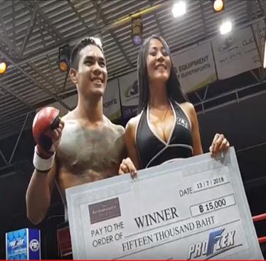 MMA fight night in Bangkok Thailand