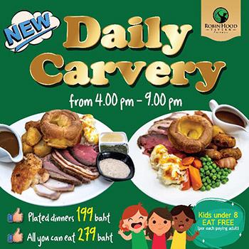Daily Carvery at Robin Hood Tavern Pattaya