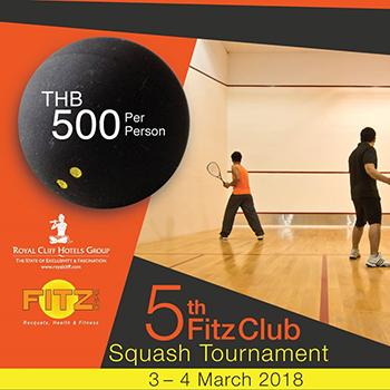 5th Fitz Club Squash tournament – 3-4 March 2018