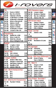Weekly Schedule - 10th December