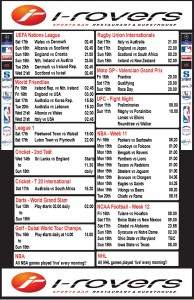 Weekly Schedule - 12th November