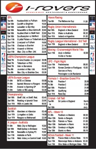 Weekly Schedule - 5th November