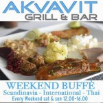 299 Baht Weekend lunch buffet at Akvavit Grill & Bar