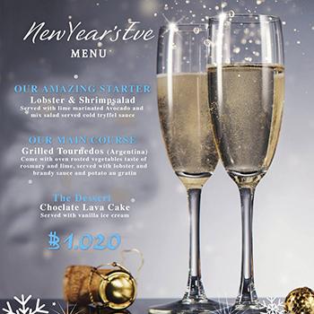 New Year Eve Menu at Akvavit Grill & Bar