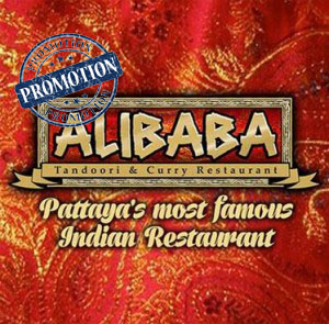 "Special Promotion ""Buy one curry and get one for free"" at Alibaba Tandoori & Curry Restaurant Pattaya – April 2018"