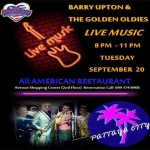 Barry Upton and The Golden Oldie at All American Restaurant - Tuesday 20th September 2016