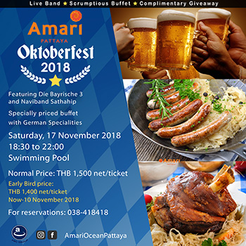Oktoberfest at Amari Pattaya – 17 November 2018