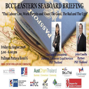 BCCT Eastern Seaboard Briefing at Pullman Pattaya Hotel G – Friday 24th August 2018