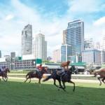 Enjoying a day at the horse races in Bangkok