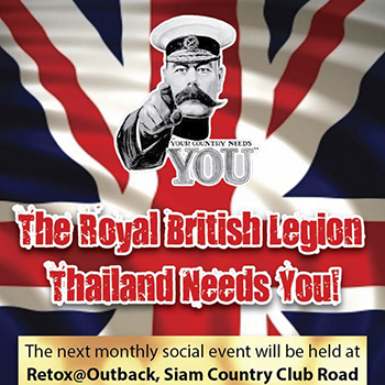 Royal British Legion Social Event at Retox@Outback – 24 February 2018