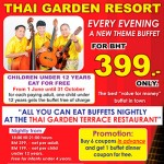 399 Baht Buffet Dinner at Thai Garden Resort