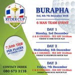 The Ryder Cup Challenge 2018 by The Travellers Rest Bar Pattaya - 3/5/7 December 2018