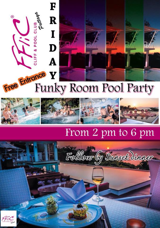 inspire pattaya every friday funky room pool party at. Black Bedroom Furniture Sets. Home Design Ideas