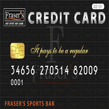 "Fraser's ""It pays to be a regular"" Card"