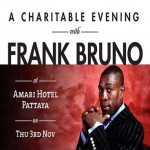 A Charitable Evening with Frank Bruno at Ananda ballroom - Thursday 3rd November 2016