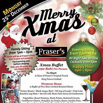 Merry Christmas at Fraser's Jomtien – 25 December 2017