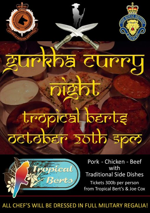 Gurkha Curry Night at Tropical Berts