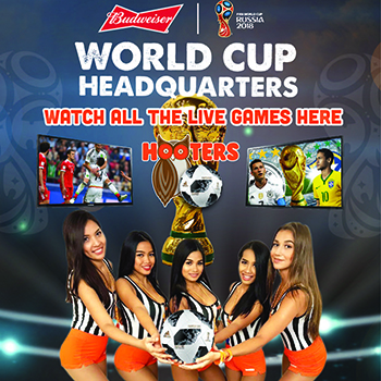 Hooters Pattaya, your World Cup Headquarters! – June-July 2018