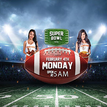 Superbowl LIII Live at Hooters Pattaya – 4 February 2019