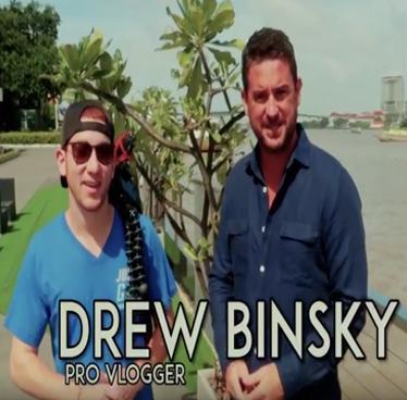 How did Vlogger Drew Binsky get over 1 million followers