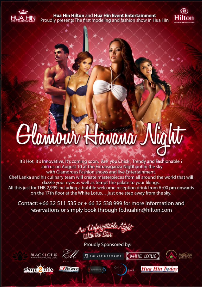 Glamour Havana Night - Modelling & FAshion in Hua Hin, Thailand