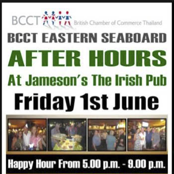 BCCT Eastern Seaboard After Hours at Jameson's Irish Pub Pattaya – Friday 1st June 2018