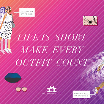 Life is short, make every outfit count at Mike Shopping Mall Pattaya