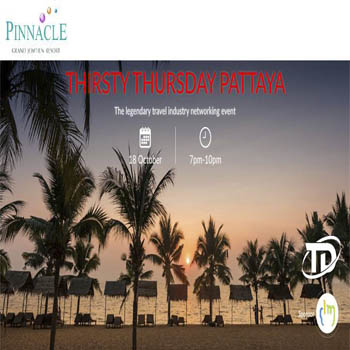 Thirsty Thursday Pattaya at Pinnacle Beach Club – Thursday 18th October 2018