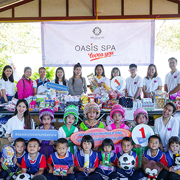 """Oasis Spa Loves You"" and Demonstrates It to Students of  San Pa Kia School in Chiang Dao, Chiang Mai"