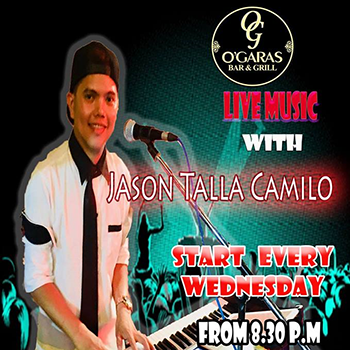 Live Music with Jason Talla Camilo at O'Garas Bar Pattaya – Wednesdays